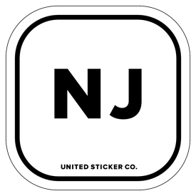 Badge_Lettering_Places_New Jersey [ NJ ]_Vinyl_Sticker