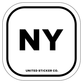 Badge_Lettering_Places_New York [ NY ]_Vinyl_Sticker