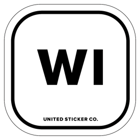 Badge_Lettering_Places_Wisconsin [ WI ]_Vinyl_Sticker