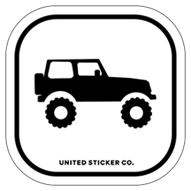 4X4 SUV Icon Badge Sticker