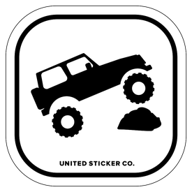 Badge_Icon_Sports & Recreation_4X4 SUV Rock_Vinyl_Sticker
