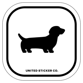 Badge_Icon_Animals_Dachshund dog_Vinyl_Sticker