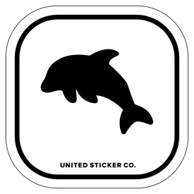 Badge_Icon_Animals_Dolphin_Vinyl_Sticker