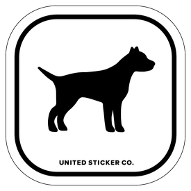 Badge_Icon_Animals_Terrier dog_Vinyl_Sticker