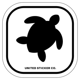 Badge_Icon_Animals_Sea Turtle_Vinyl_Sticker