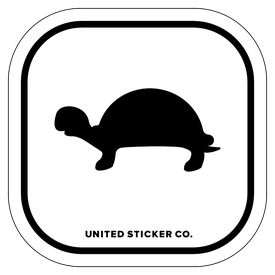 Badge_Icon_Animals_Tortoise Turtle_Vinyl_Sticker