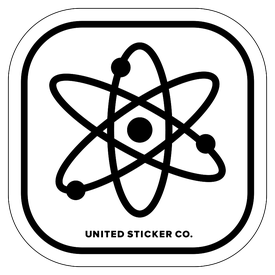 Badge_Icon_Science & Math_Atom_Vinyl_Sticker