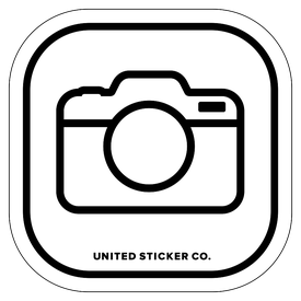 Badge_Icon_Art & Music_Camera_Vinyl_Sticker