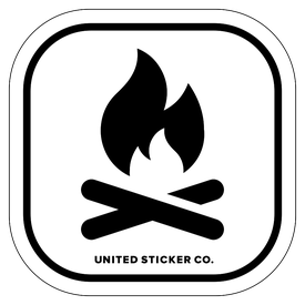 Badge_Icon_Sports & Recreation_Campfire_Vinyl_Sticker