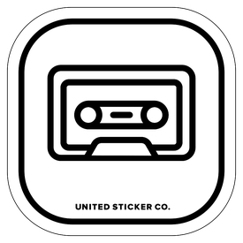 Badge_Icon_Art & Music_Cassette Tape_Vinyl_Sticker