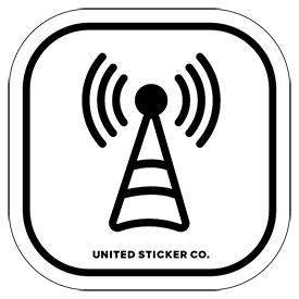 Radio Tower Icon Badge Sticker