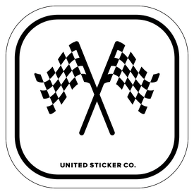 Badge_Icon_Sports & Recreation_Checkered Flags_Vinyl_Sticker