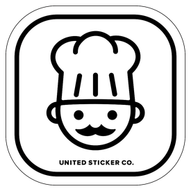 Badge_Icon_Food & Drink_Chef Face_Vinyl_Sticker