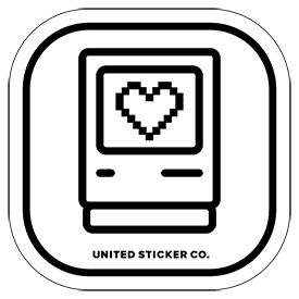 Mac Heart  Computer Icon Badge Sticker