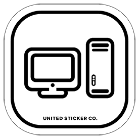 Power Mac Icon Badge Sticker