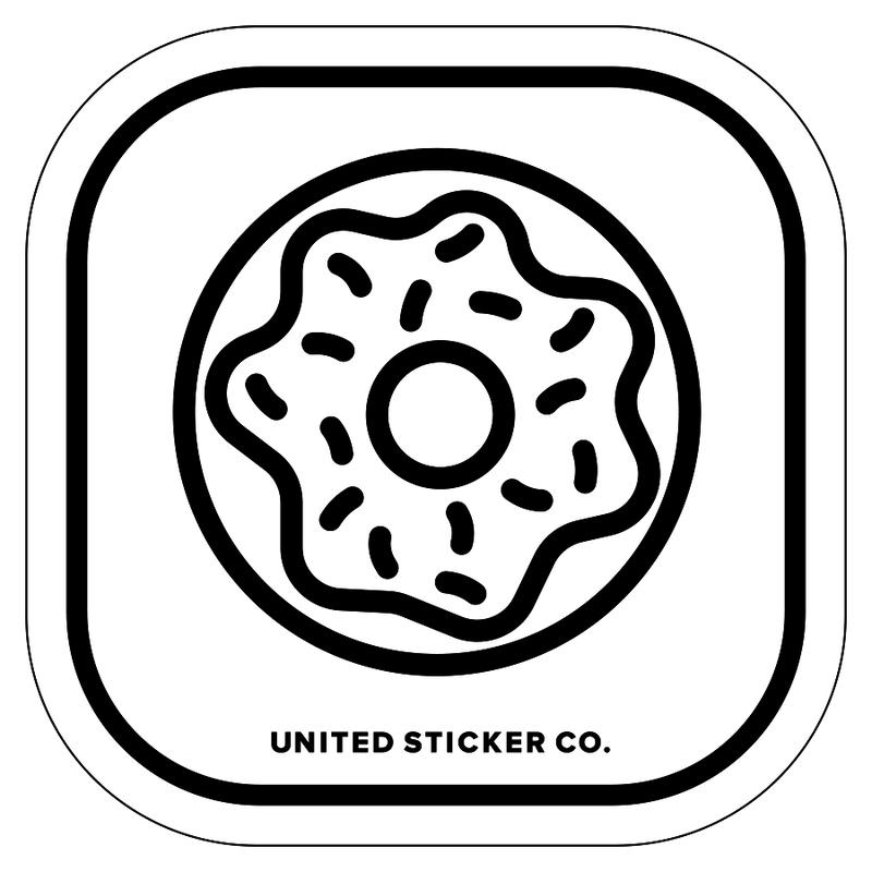 Doughnut Icon Badge Sticker