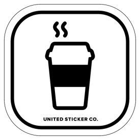 Badge_Icon_Food & Drink_Coffe To-Go Cup_Vinyl_Sticker
