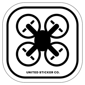 Badge_Icon_Toys & Tech_Quadcopter Drone_Vinyl_Sticker
