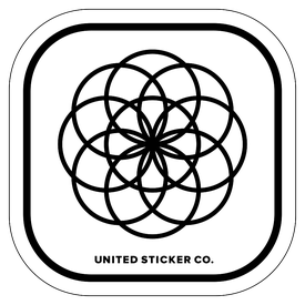 Badge_Icon_Science & Math_Flower of Life_Vinyl_Sticker