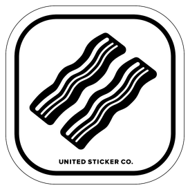 Badge_Icon_Food & Drink_Two Strips of Bacon_Vinyl_Sticker