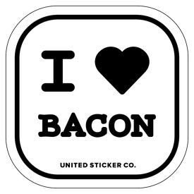 Badge_Icon_Food & Drink_I Heart Bacon_Vinyl_Sticker