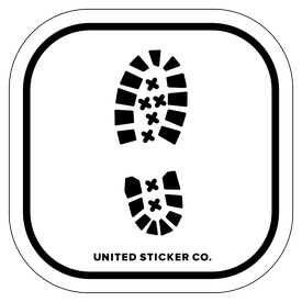 Badge_Icon_Professions_Footprint: Boot_Vinyl_Sticker