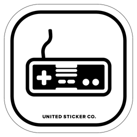 Badge_Icon_Toys & Tech_Nintendo NES Controller_Vinyl_Sticker