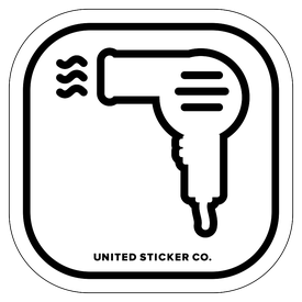 Badge_Icon_Things_Hair Dryer_Vinyl_Sticker