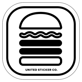 Badge_Icon_Food & Drink_Hamburger: Double_Vinyl_Sticker