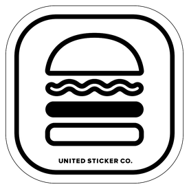Badge_Icon_Food & Drink_Hamburger: Single_Vinyl_Sticker