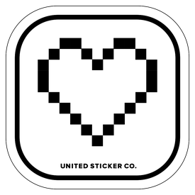 Badge_Icon_Emojis_8-Bit: Heart_Vinyl_Sticker