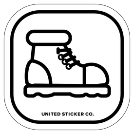 Badge_Icon_Sports & Recreation_Hiking Boot_Vinyl_Sticker