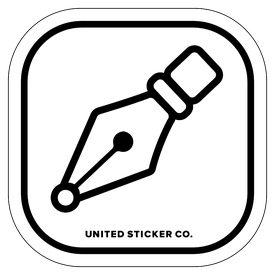 Badge_Icon_Art & Music_Pen_Vinyl_Sticker