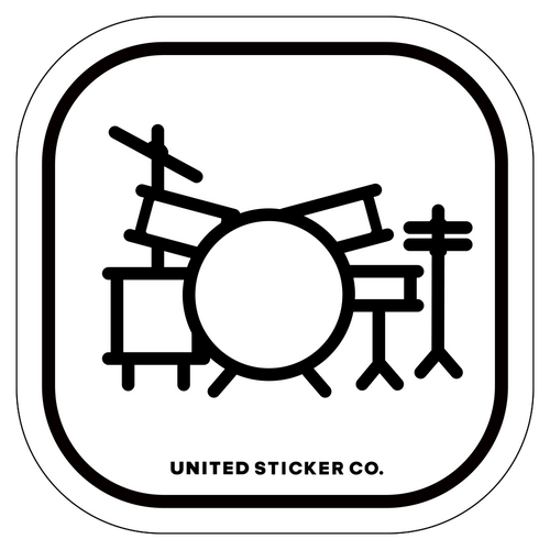 Badge_Icon_Art & Music_Drum Set_Vinyl_Sticker