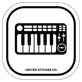 Badge_Icon_Art & Music_Electric Keyboard_Vinyl_Sticker