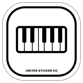 Badge_Icon_Art & Music_Piano Keys_Vinyl_Sticker