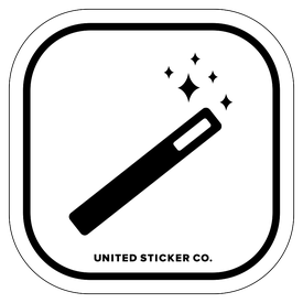 Badge_Icon_Art & Music_Magic Wand_Vinyl_Sticker