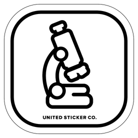 Badge_Icon_Science & Math_Microscope_Vinyl_Sticker