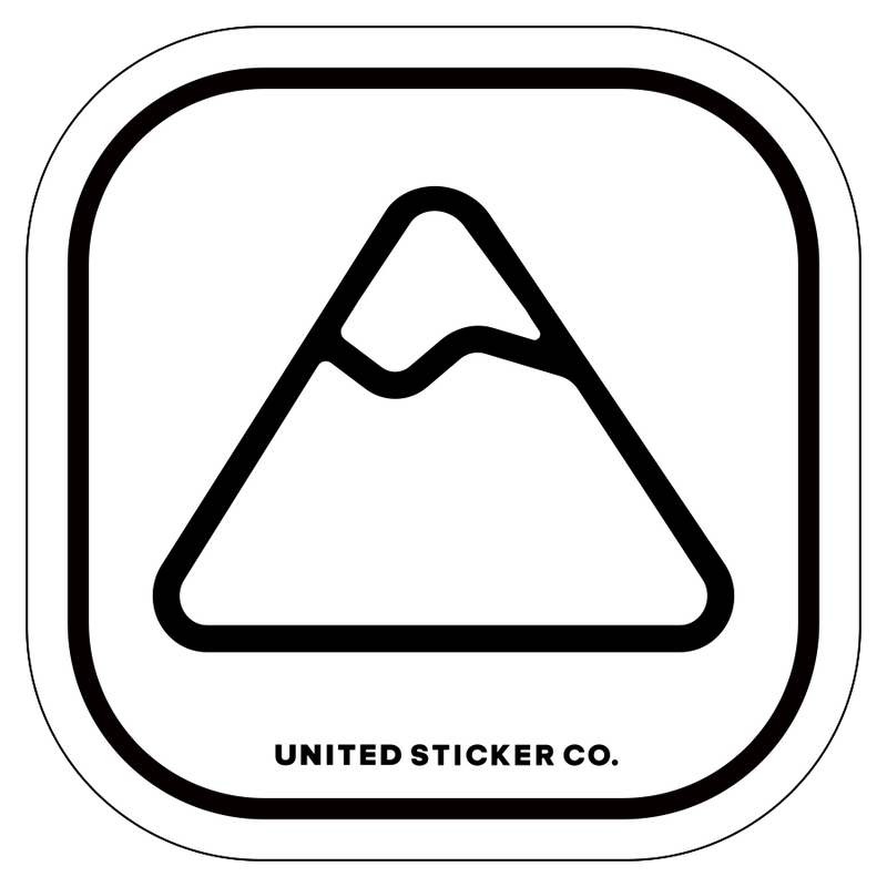 Mountain Icon Badge Sticker