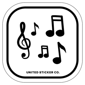 Badge_Icon_Art & Music_Music Notes_Vinyl_Sticker