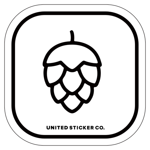 Hops Icon Badge Sticker