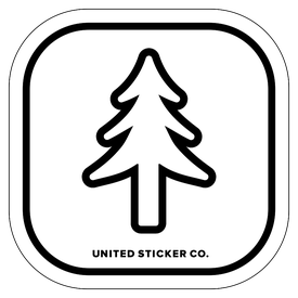 Badge_Icon_Plants_Evergreen Pine Tree_Vinyl_Sticker