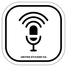 Badge_Icon_Toys & Tech_Podcast Microphone_Vinyl_Sticker