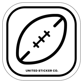 Badge_Icon_Sports & Recreation_Rugby Ball_Vinyl_Sticker