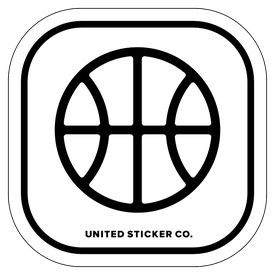Badge_Icon_Sports & Recreation_Basketball Ball_Vinyl_Sticker