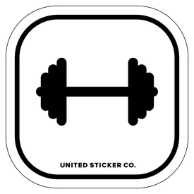 Badge_Icon_Sports & Recreation_Dumbbell_Vinyl_Sticker