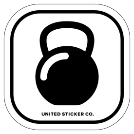 Badge_Icon_Sports & Recreation_Kettle Bell Weight_Vinyl_Sticker