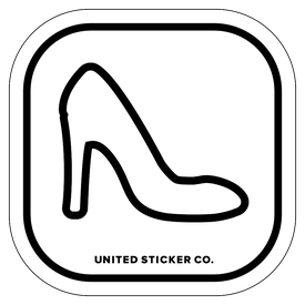Badge_Icon_Things_Stiletto Shoe_Vinyl_Sticker