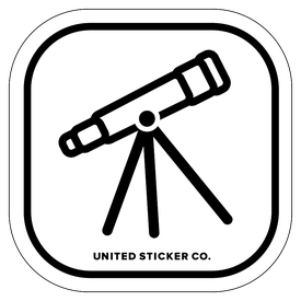 Badge_Icon_Science & Math_Telescope_Vinyl_Sticker