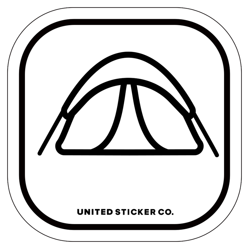 Camping Tent Icon Badge Sticker